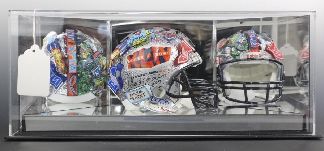 Charles Fazzino 3D Pop Art Super Bowl Football Helmet
