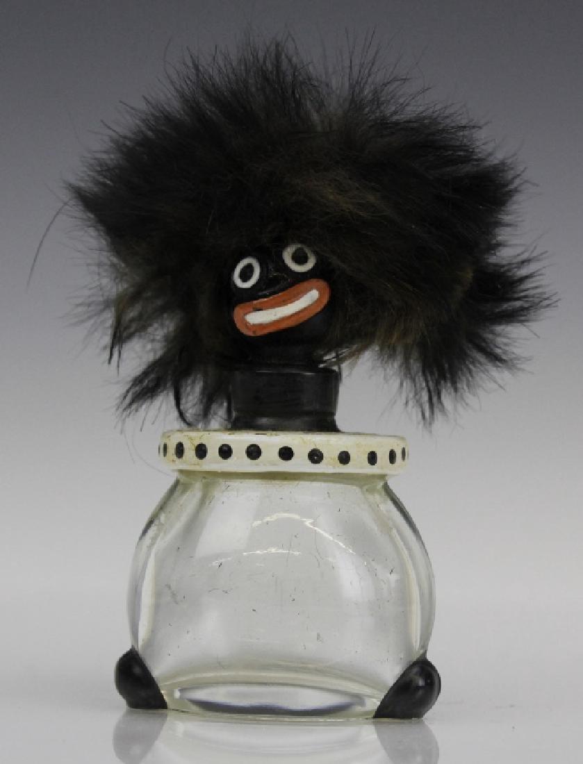 1920's Vigny Golliwogg Glass Perfume Sent Bottle w/ Box - 2