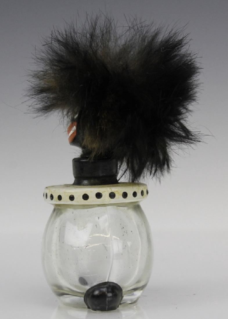 1920's Vigny Golliwogg Glass Perfume Sent Bottle w/ Box - 5