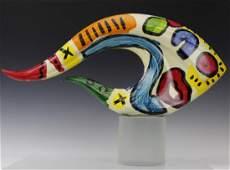 Signed Peter Keil (1942-) Painting Art Glass Sculpture