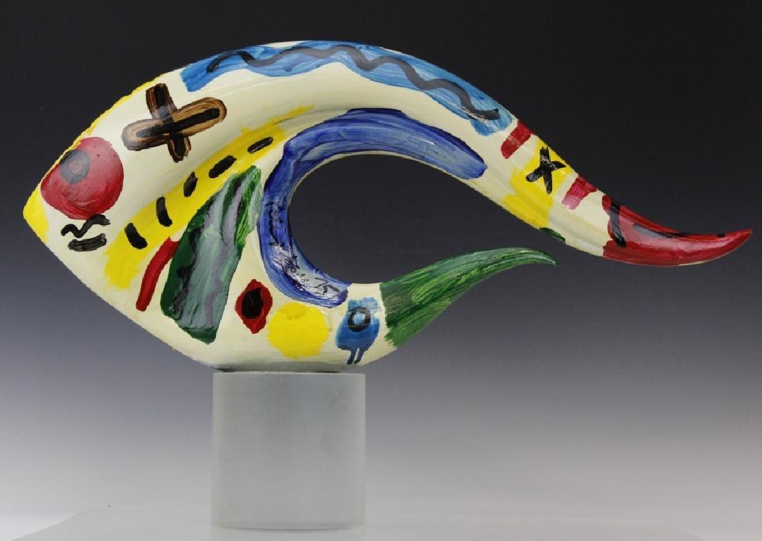 Signed Peter Keil (1942-) Painting Art Glass Sculpture - 3