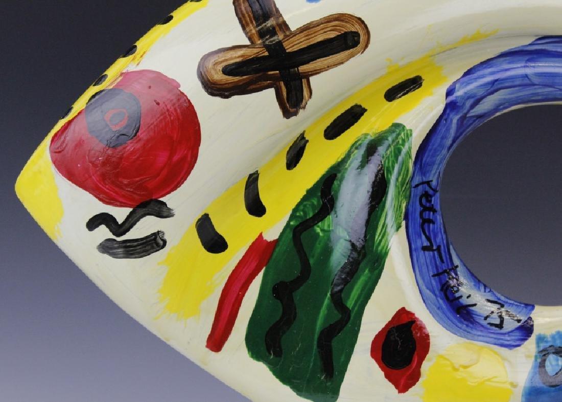 Signed Peter Keil (1942-) Painting Art Glass Sculpture - 5