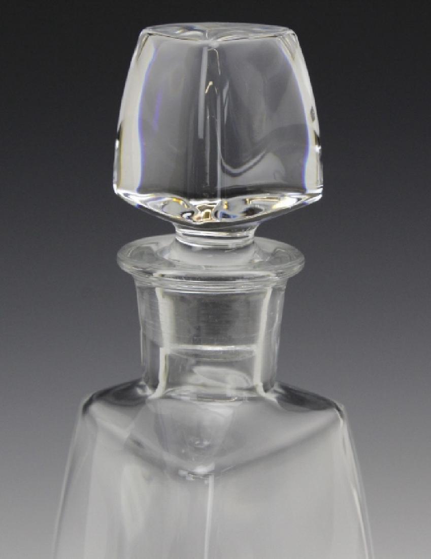 Signed Baccarat France Crystal Vosges Modern Decanter - 2