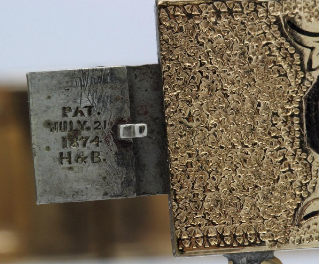Victorian Gold Filled & Enamel Buckle Bangle Bracelet - 6