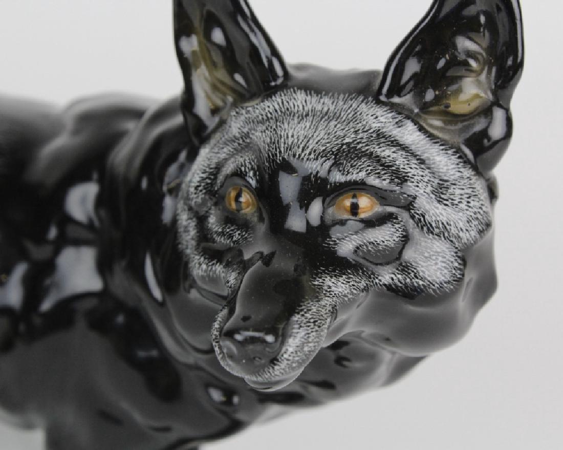 "Meissen Germany Wild Snow Fox 9"" Porcelain Figurine - 4"