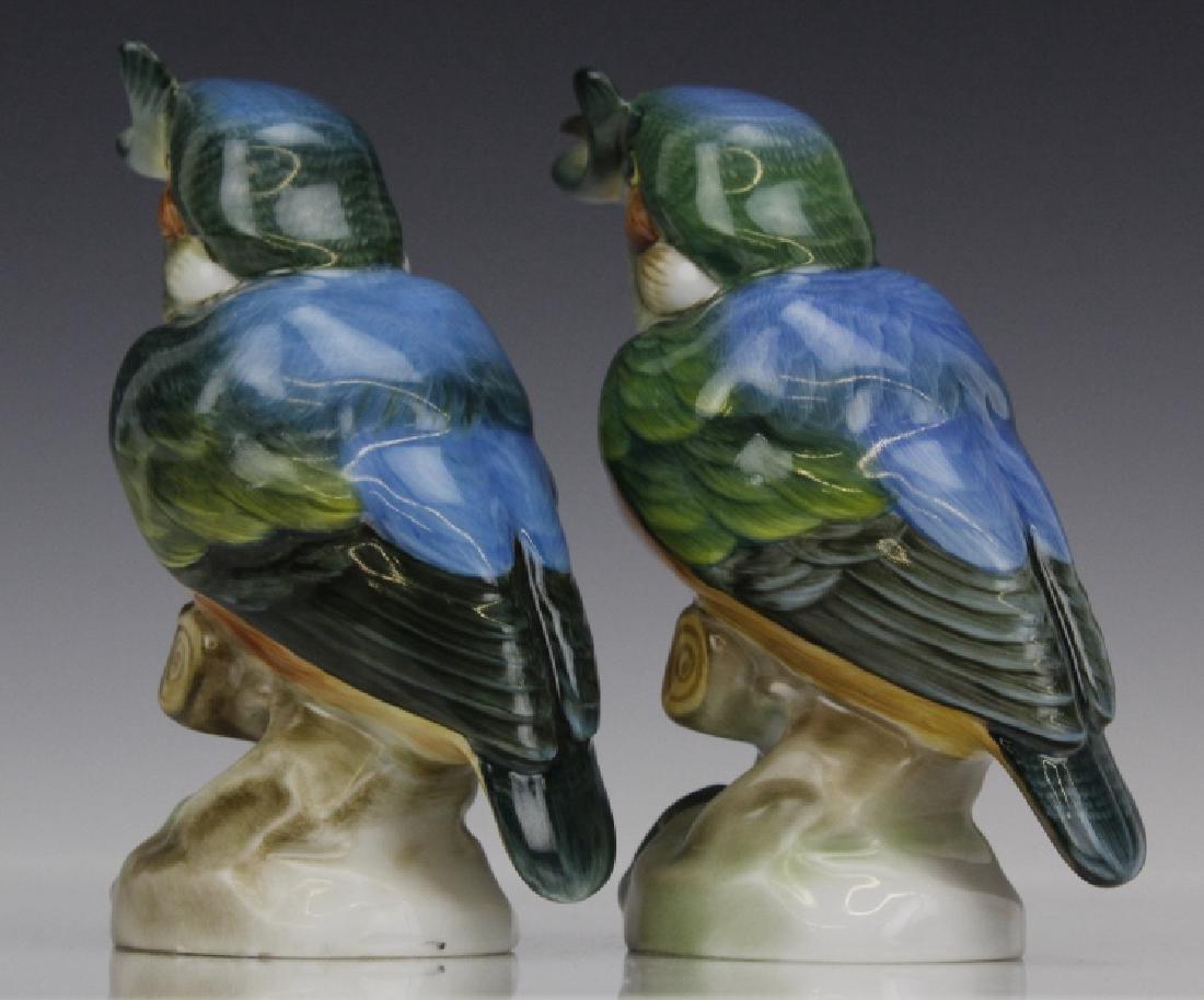 PAIR Herend Porcelain Kingfisher Bird Statue Figurine - 6