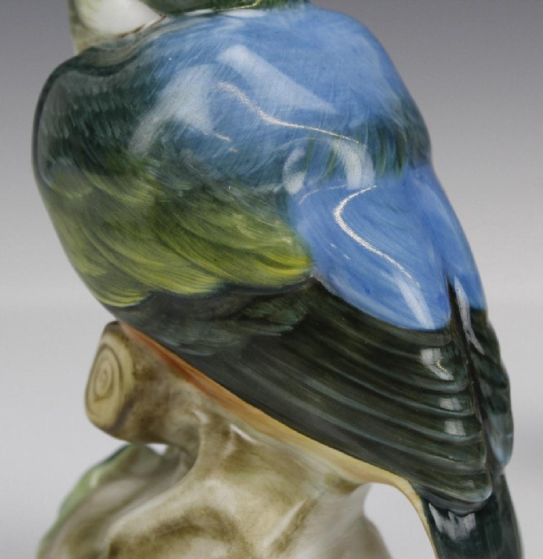 PAIR Herend Porcelain Kingfisher Bird Statue Figurine - 8