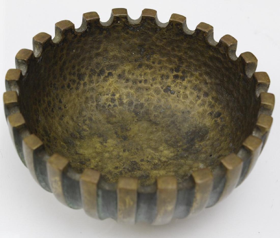 Maurice Ascalon Modern Pal Bell Bronze Verdigris Bowl - 2