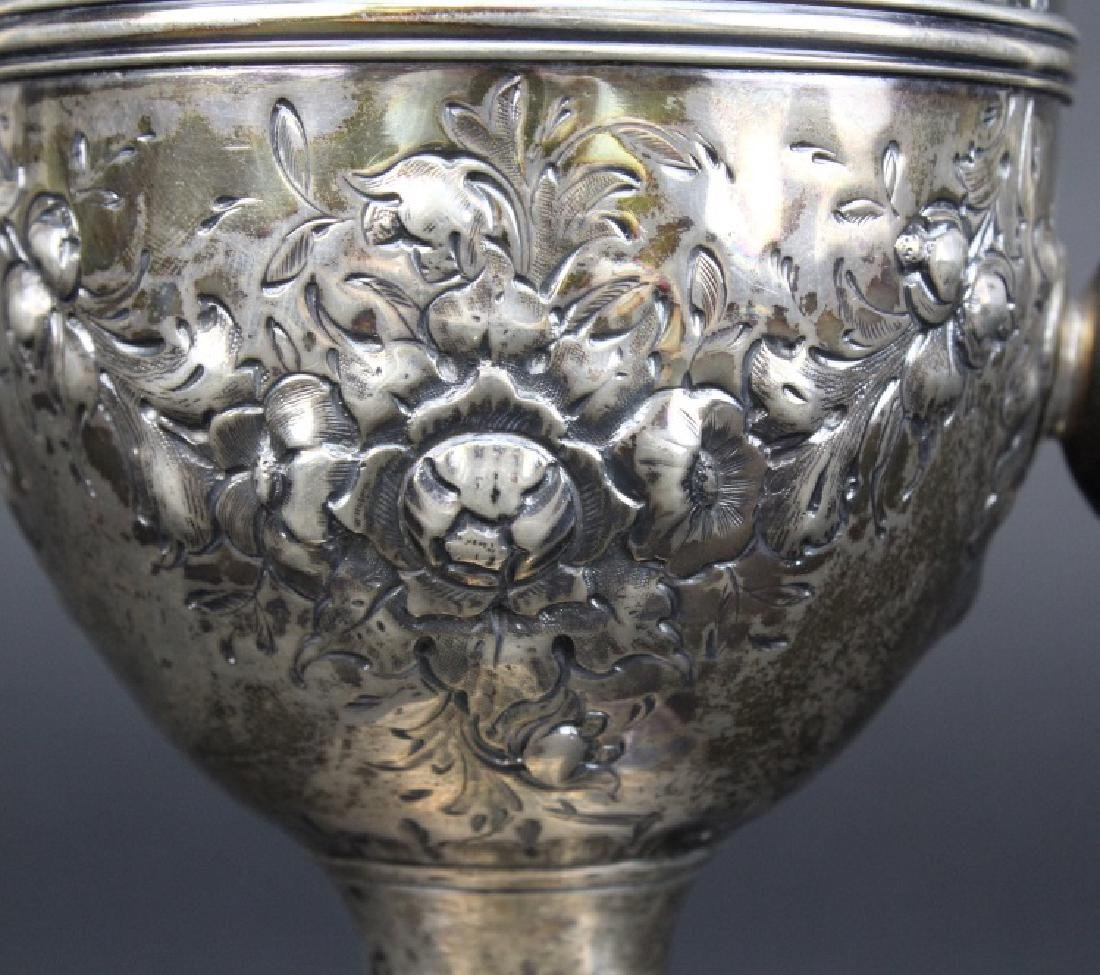 Early Peter Bateman Sterling Silver Repousse Loving Cup - 5