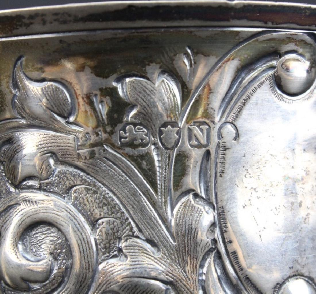 Early Peter Bateman Sterling Silver Repousse Loving Cup - 6