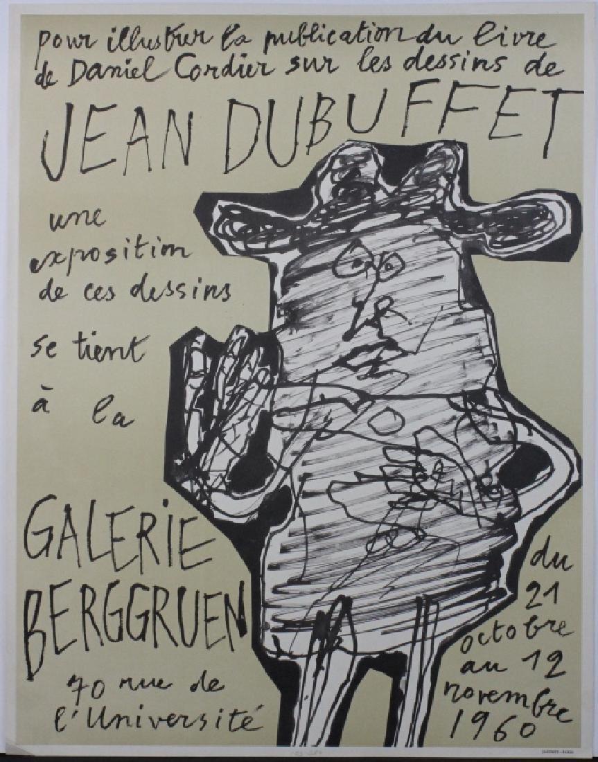 Jean Dubuffet Galerie Berggruen Poster 1960 Bass Museum