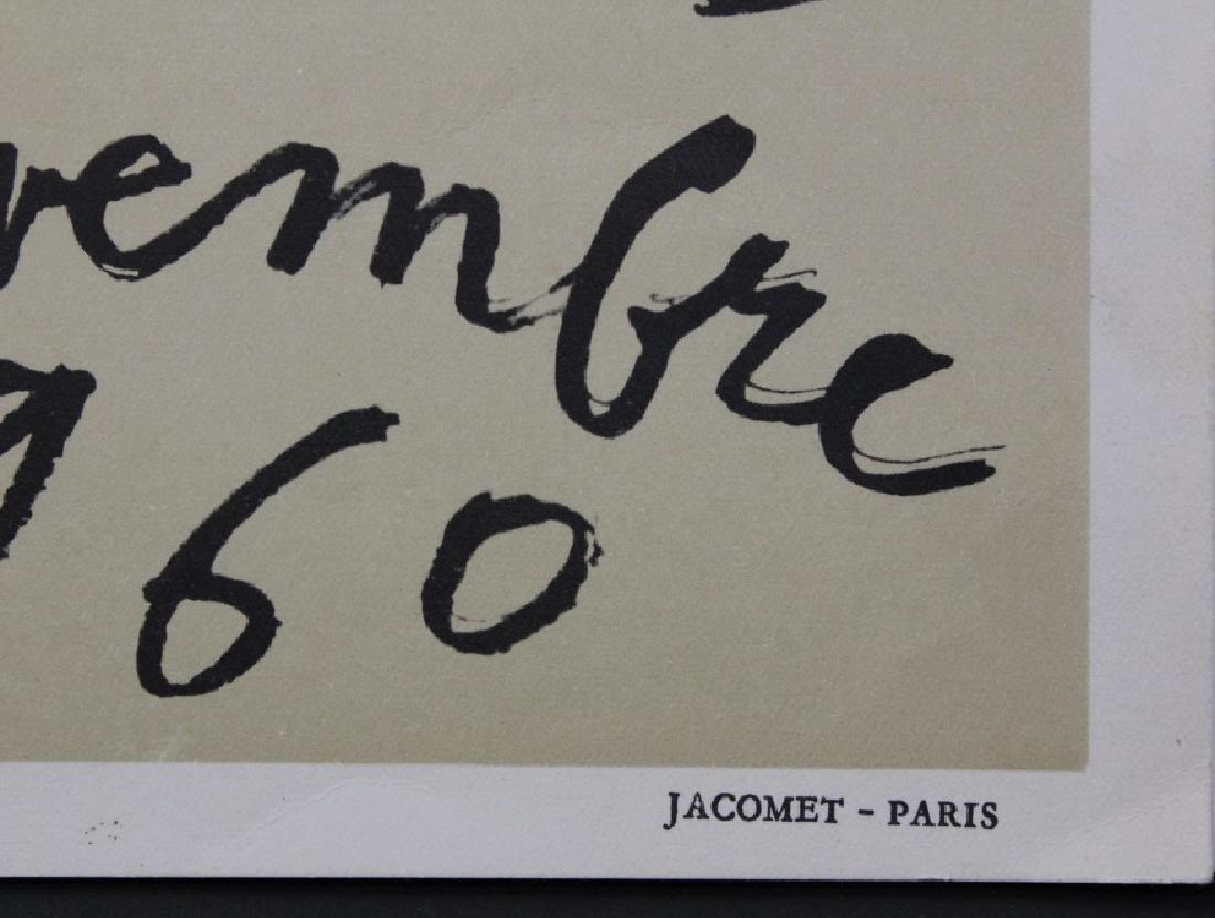 Jean Dubuffet Galerie Berggruen Poster 1960 Bass Museum - 3