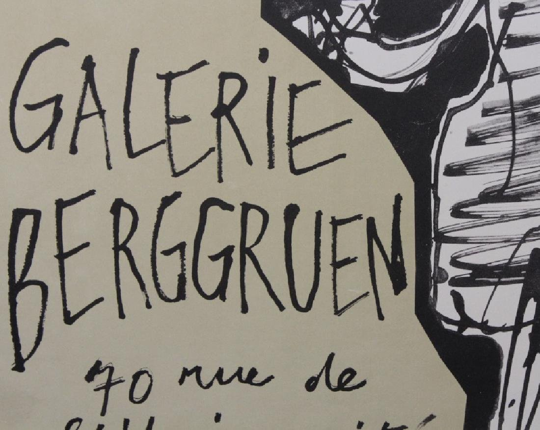 Jean Dubuffet Galerie Berggruen Poster 1960 Bass Museum - 4