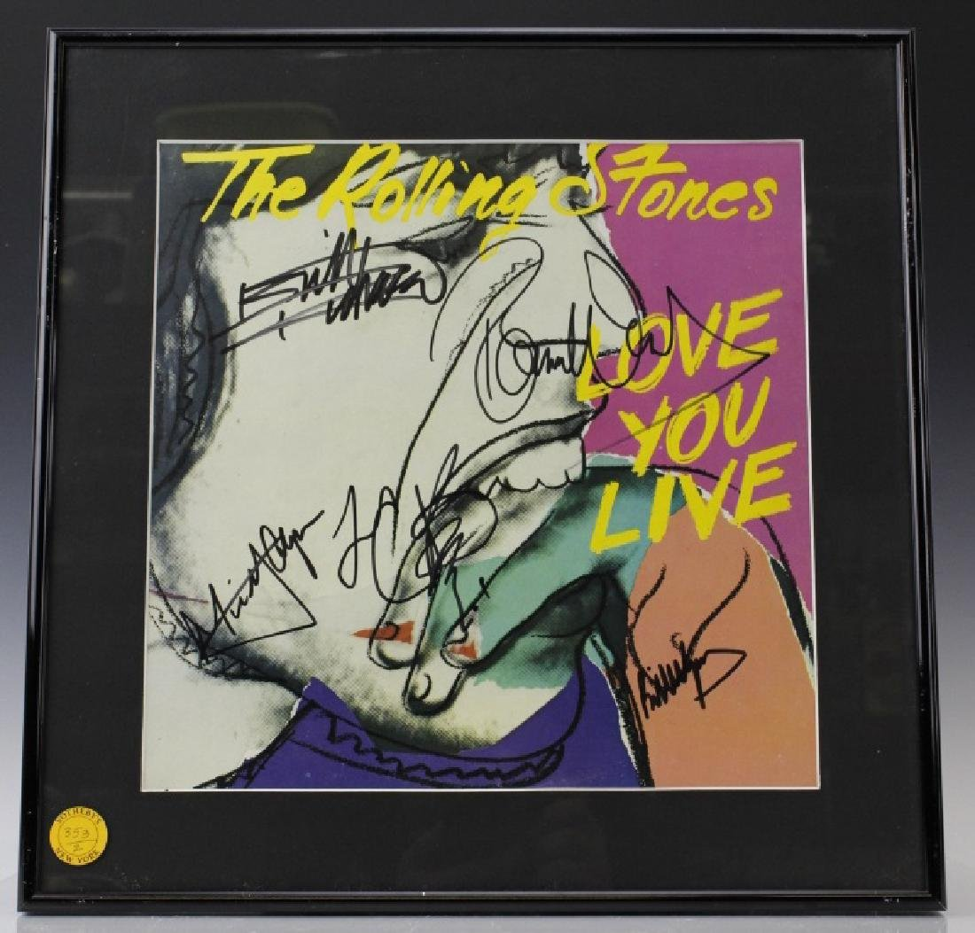 SIGNED Rolling Stones Andy Warhol Cover Art Autographed - 2