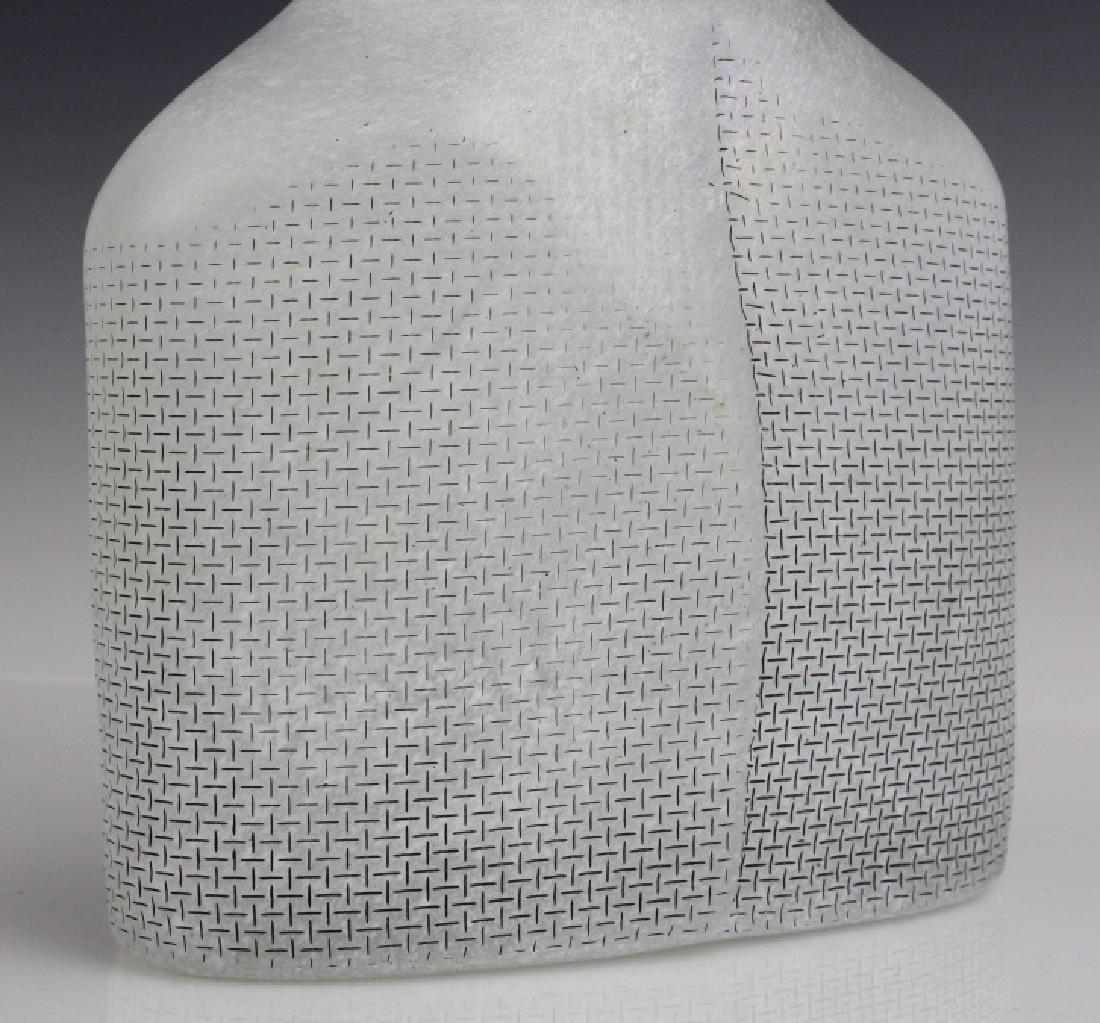 Kosta Boda Bertil Vallien Art Glass Satellite Bottle - 10