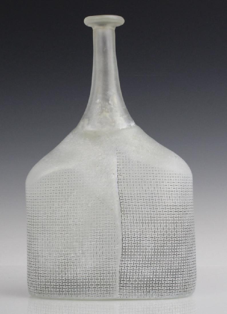 Kosta Boda Bertil Vallien Art Glass Satellite Bottle