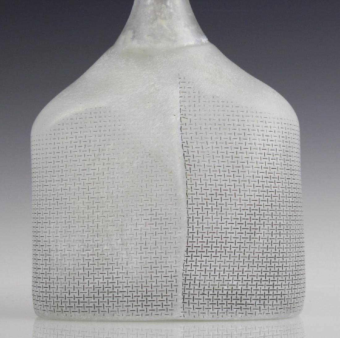 Kosta Boda Bertil Vallien Art Glass Satellite Bottle - 2
