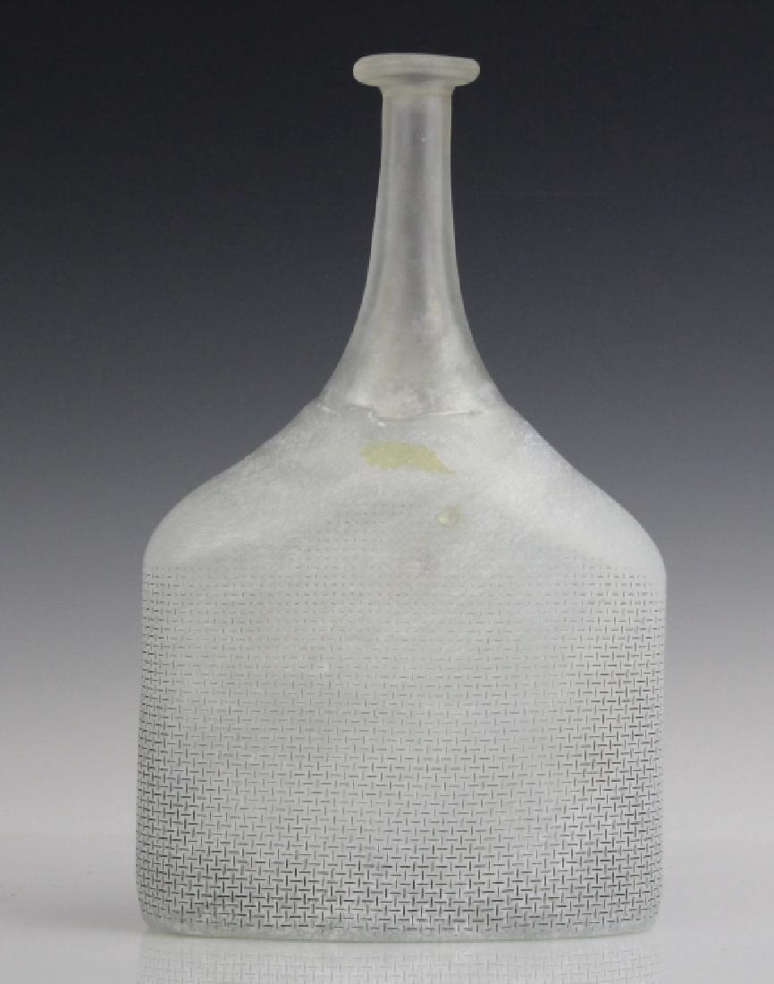 Kosta Boda Bertil Vallien Art Glass Satellite Bottle - 3