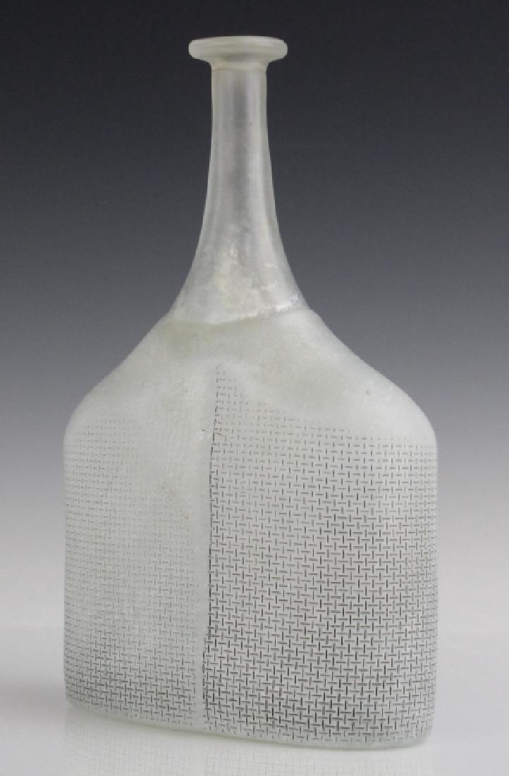 Kosta Boda Bertil Vallien Art Glass Satellite Bottle - 5