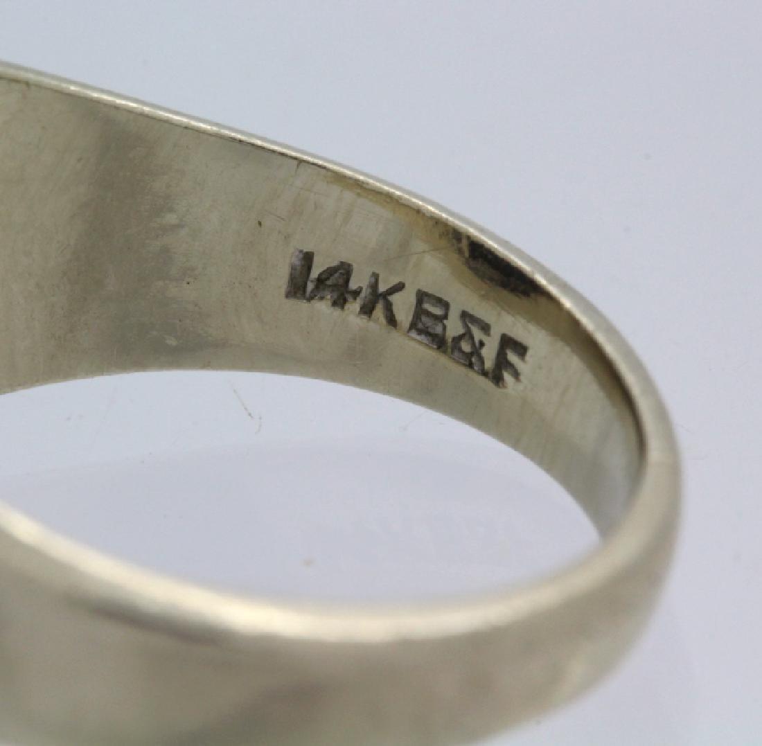 Men's White 14k Gold & Lindy Star Sapphire Ring - 5
