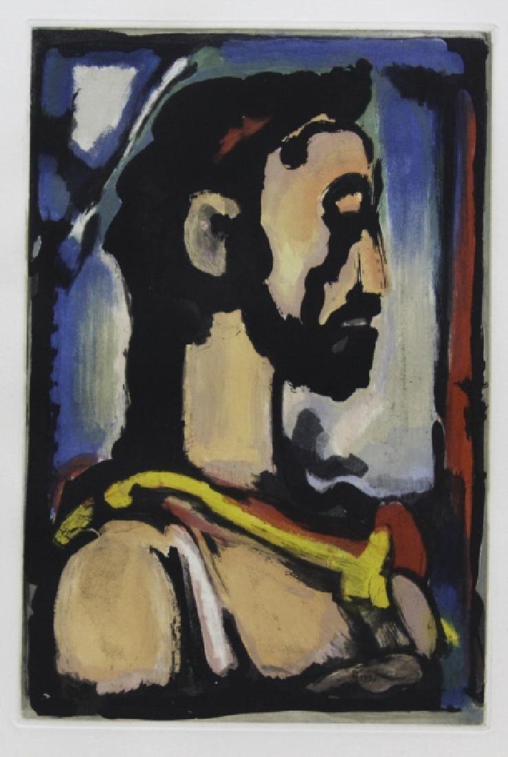 Georges Rouault Christ de Profil Color Aquatint Print