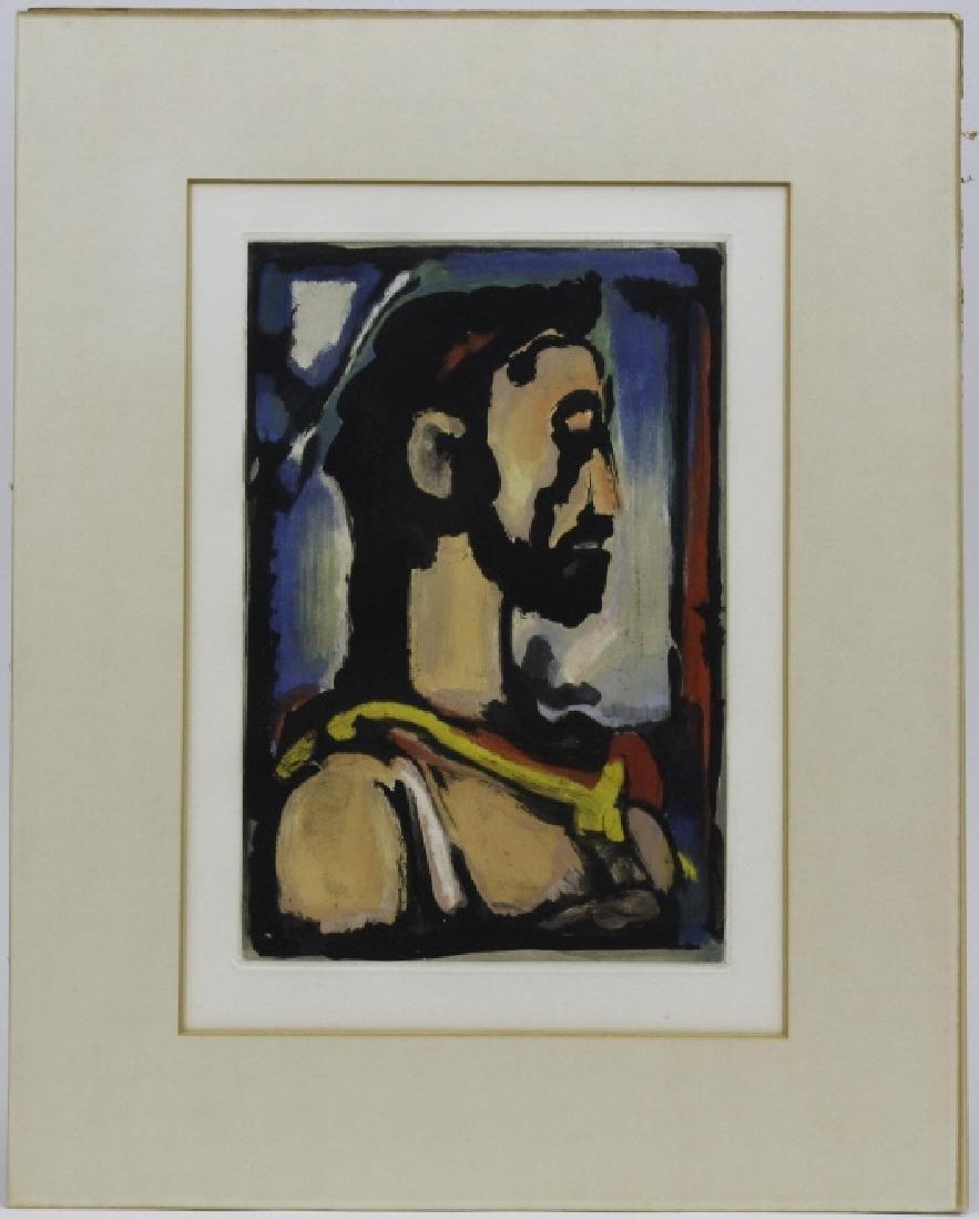 Georges Rouault Christ de Profil Color Aquatint Print - 2