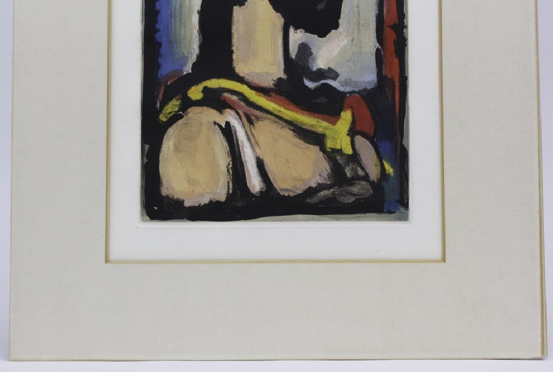 Georges Rouault Christ de Profil Color Aquatint Print - 4