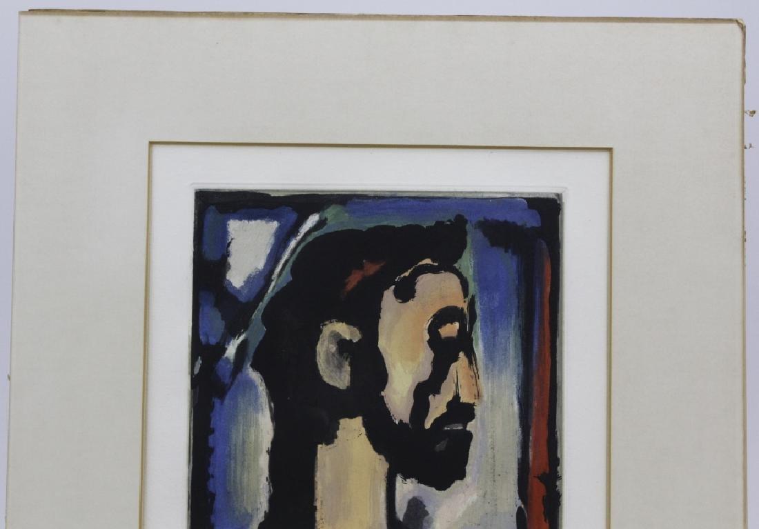 Georges Rouault Christ de Profil Color Aquatint Print - 5