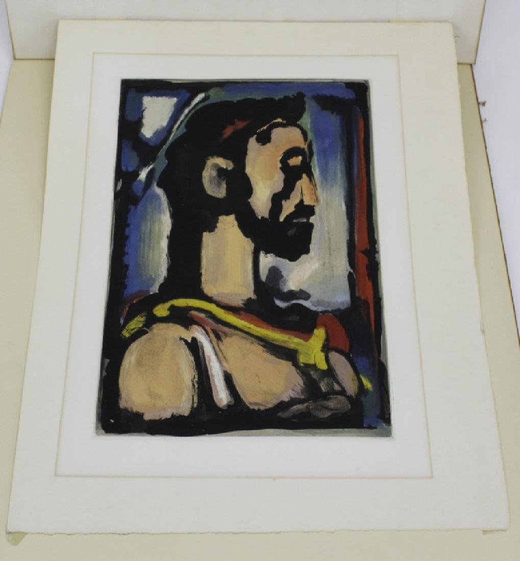 Georges Rouault Christ de Profil Color Aquatint Print - 6