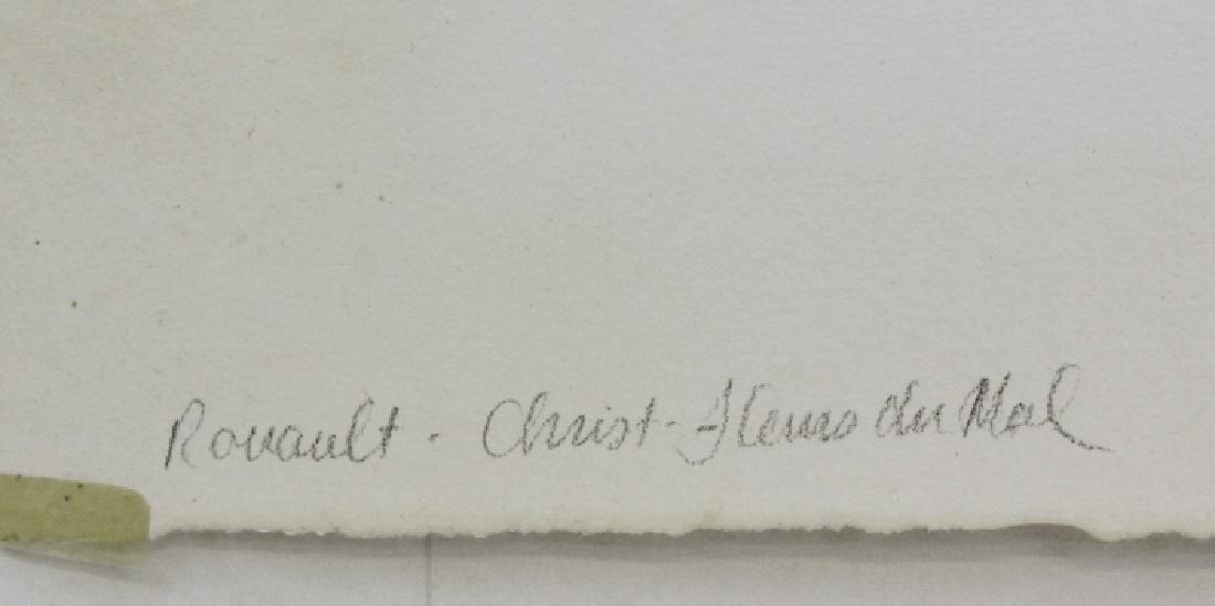 Georges Rouault Christ de Profil Color Aquatint Print - 8