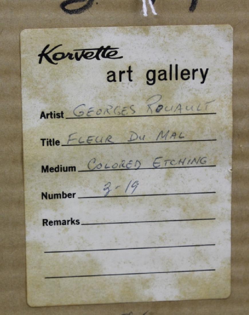 Georges Rouault Christ de Profil Color Aquatint Print - 9