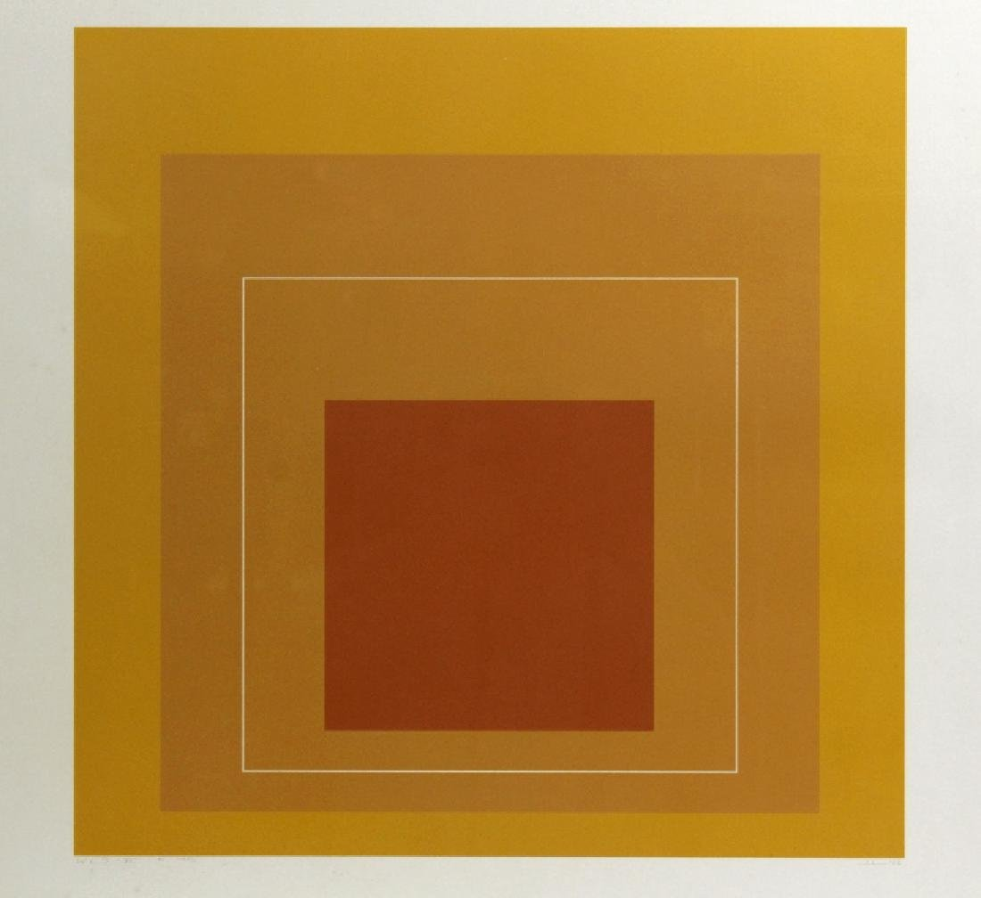 Signed Josef Albers WLS-VI White Line Squares Serigraph