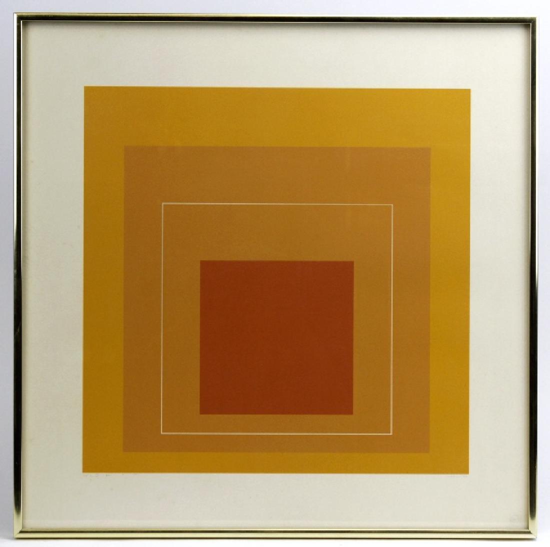 Signed Josef Albers WLS-VI White Line Squares Serigraph - 2