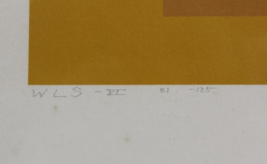 Signed Josef Albers WLS-VI White Line Squares Serigraph - 3