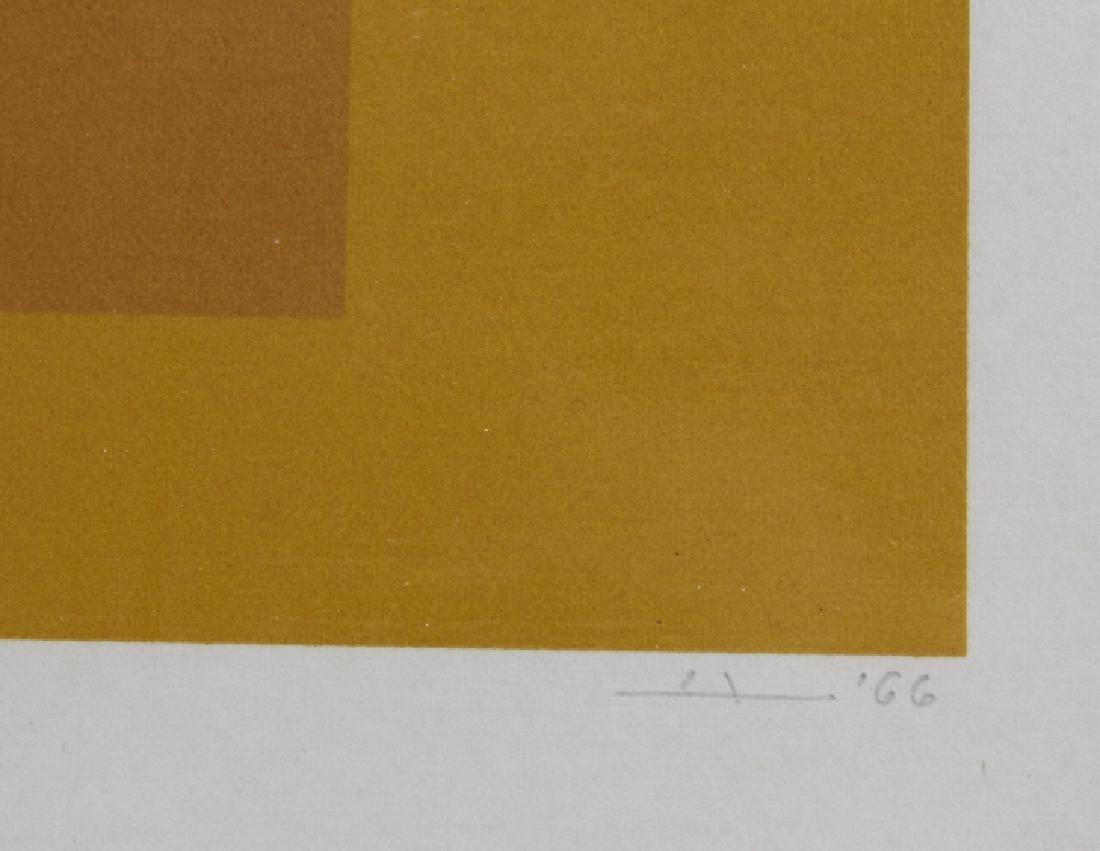 Signed Josef Albers WLS-VI White Line Squares Serigraph - 4