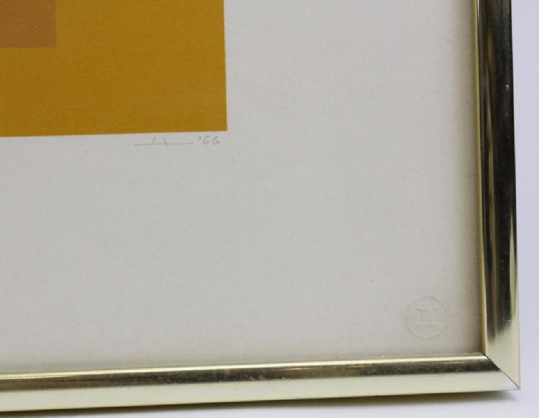 Signed Josef Albers WLS-VI White Line Squares Serigraph - 5