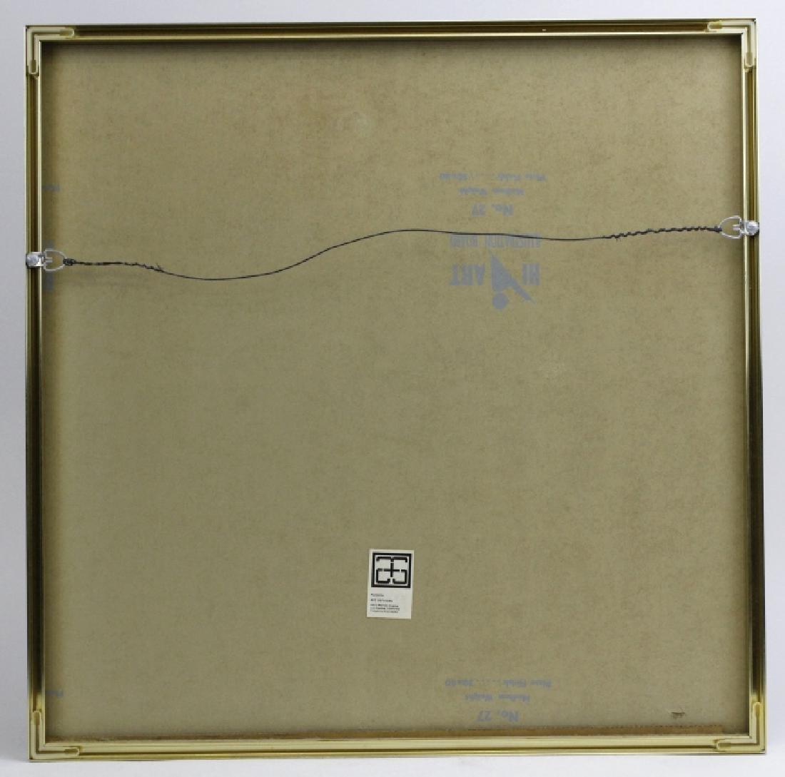 Signed Josef Albers WLS-VI White Line Squares Serigraph - 6