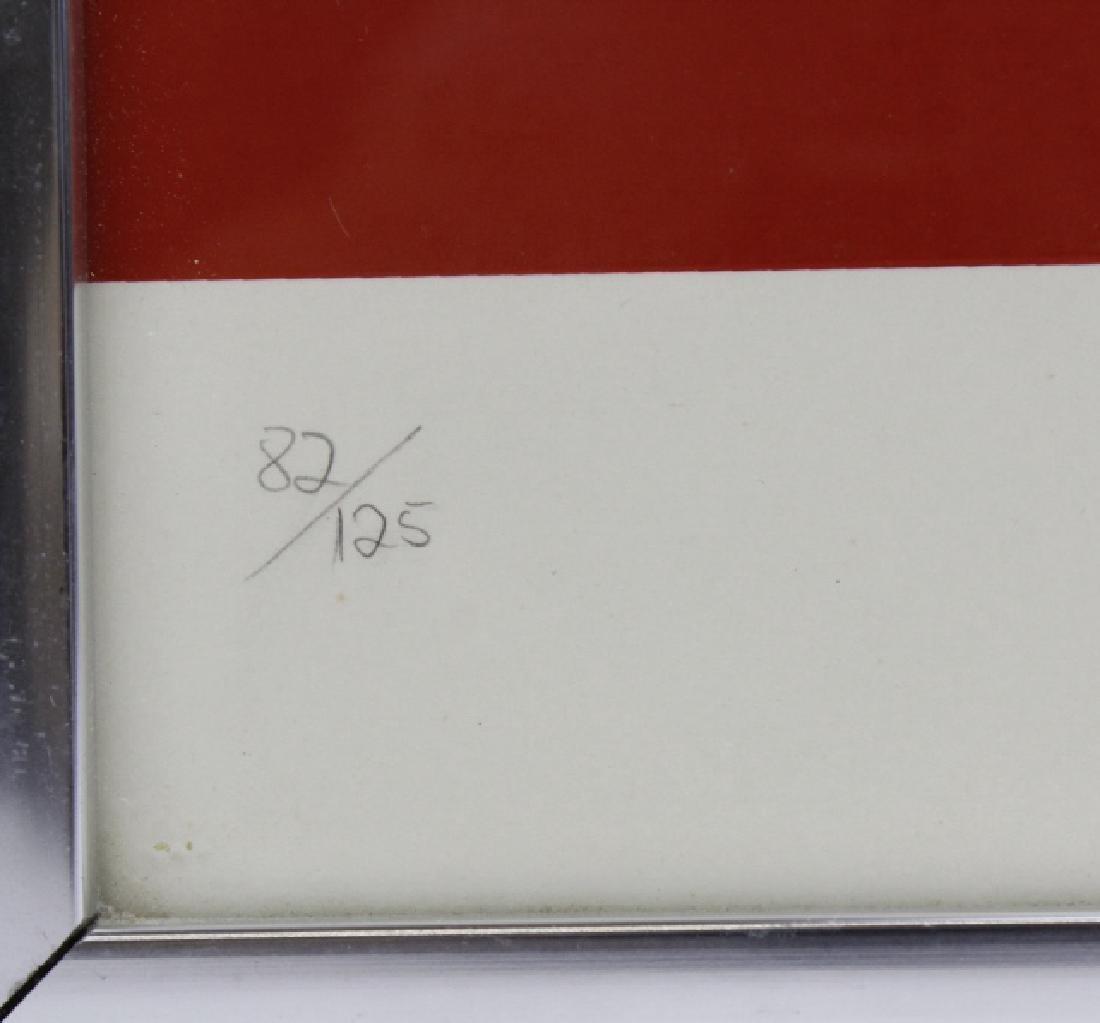 Signed Robert Indiana USA Numbers Series FIVE 5 Print - 3