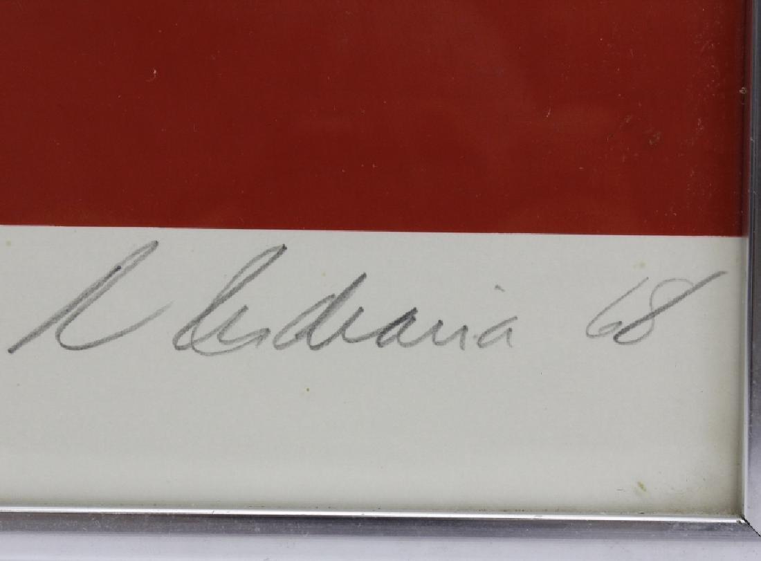 Signed Robert Indiana USA Numbers Series FIVE 5 Print - 4