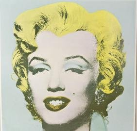 Vtg Andy Warhol Marilyn Monroe Tate Gallery Poster Rare