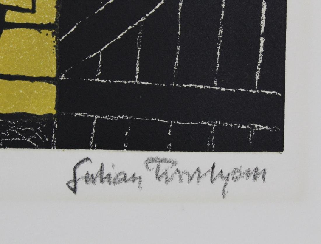Signed Julian Trevelyan Gravesend Thames Suite Etching - 5