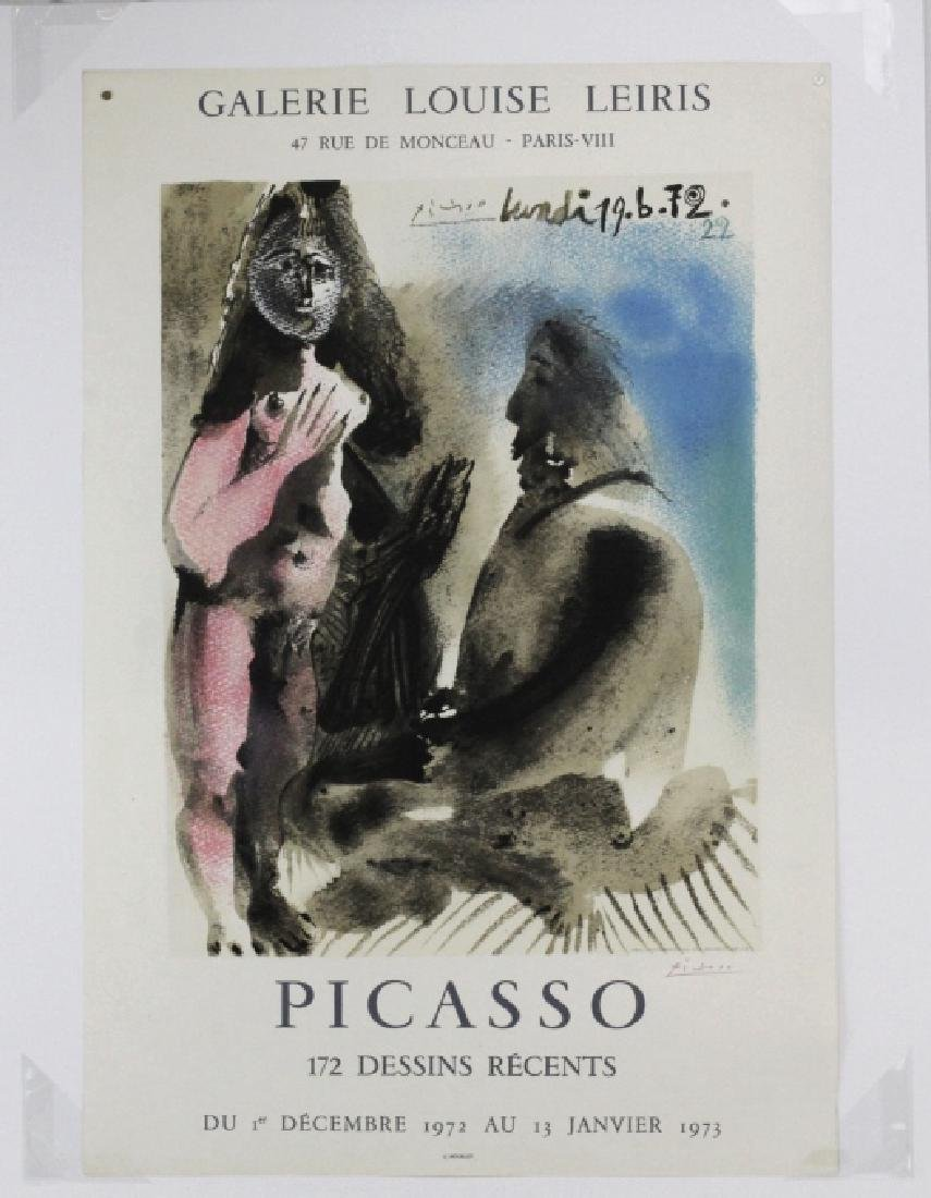 Pablo Picasso Color Litho Poster Lithograph Red Signed - 2