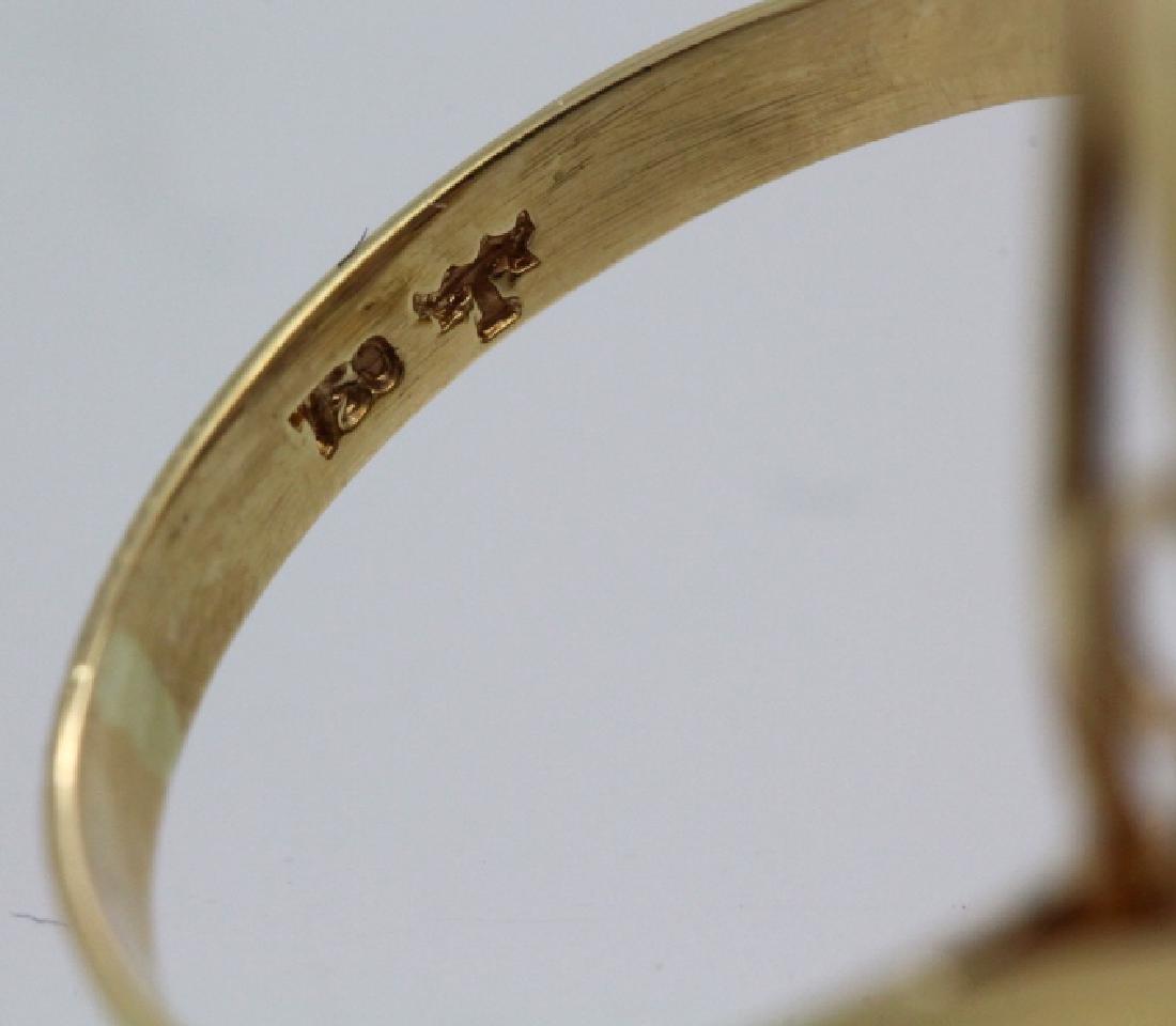 H. Stern 18k Gold Sputnik Gemstone Ring Sz 7.5 VINTAGE - 5