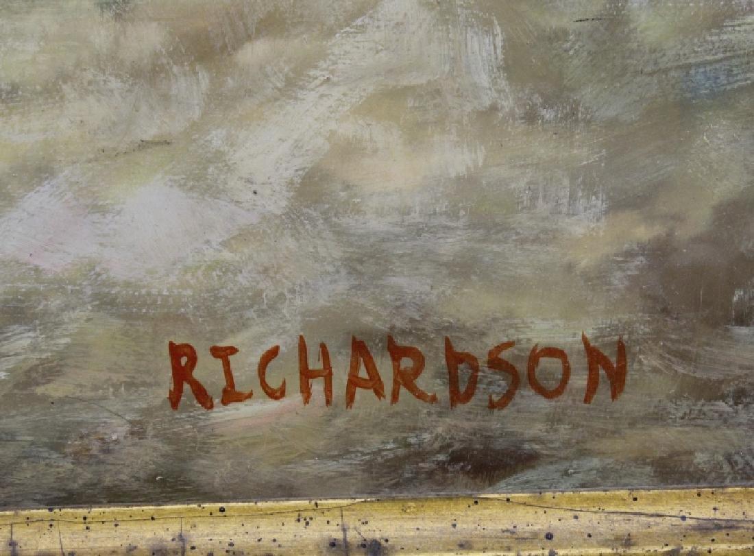 Signed Richardson Arabian Horse Rider Oil Painting FINE - 3