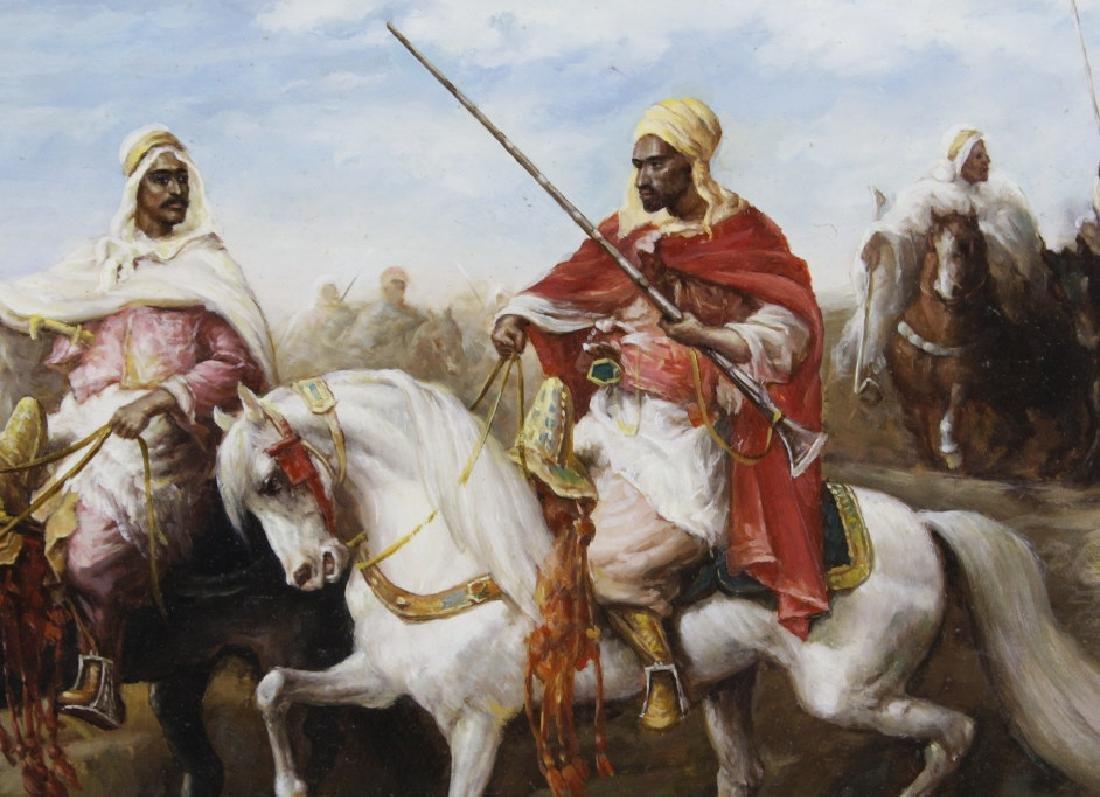 Signed Richardson Arabian Horse Rider Oil Painting FINE - 4