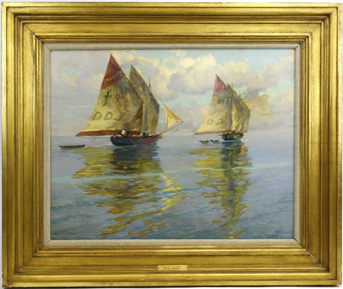 Albert Miendl (1891-1967) Austria Seascape Oil Painting