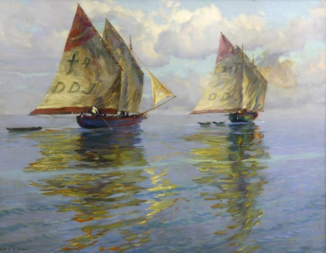 Albert Miendl (1891-1967) Austria Seascape Oil Painting - 2