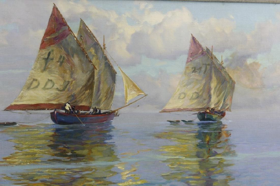 Albert Miendl (1891-1967) Austria Seascape Oil Painting - 4