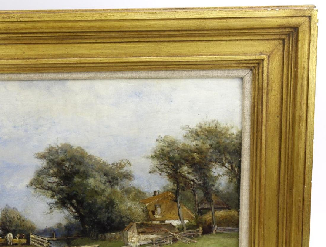 Signed Schipperns Oil On Board Pastoral Painting FRAMED - 4