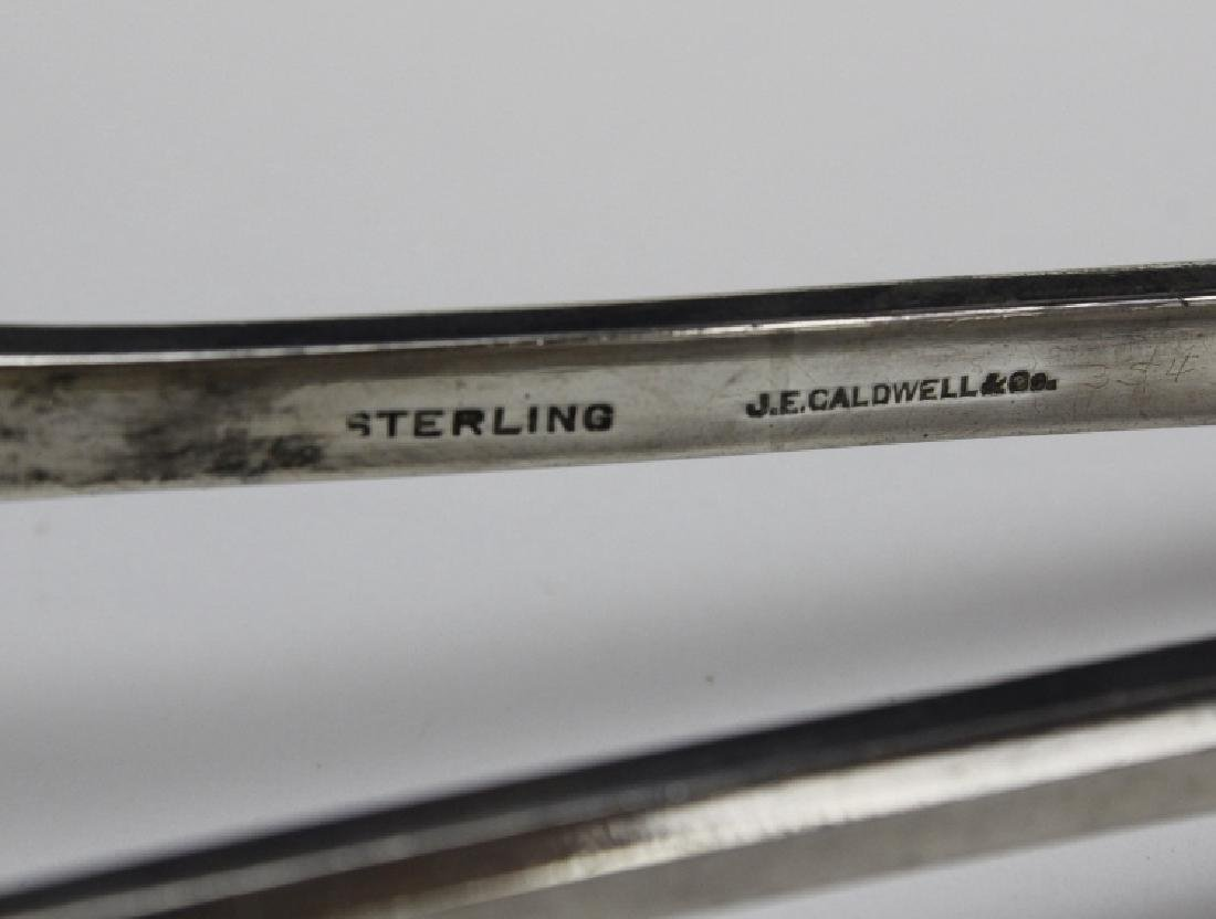 J.E. Caldwell Sterling Silver 925 Serving Tongs 222g - 3